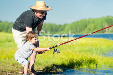 stock-photo-20635578-grandson-and-grandfather-fishing